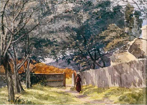 Elizabeth Parsons, A Country Lane, Woode