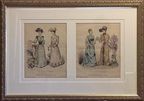 La Mode Illustree, vintage french prints