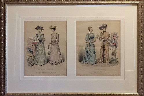 La Mode Illustree, vintage french prints
