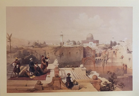 David Roberts, Mosque of Omar, Shewing the site of the Temple