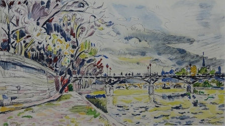 Paul Signac, Untitled Lithograph, (Pont Neuf), c1950
