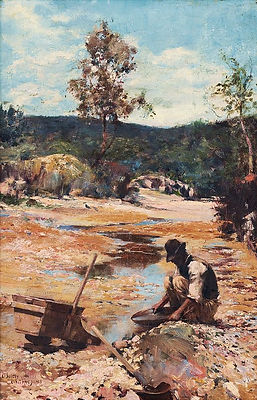 Walter Withers, Panning for Gold, 1893.j