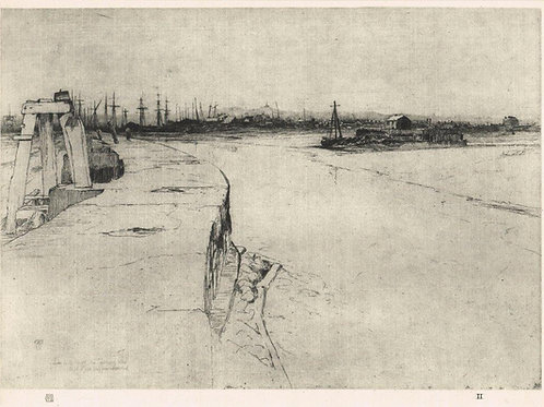 Frank Short, Low Tide, The Evening Star, and Rye's Long Pier Deserted