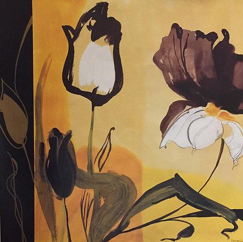 Dominic Gaudin, Golden Illusions 61x61cm