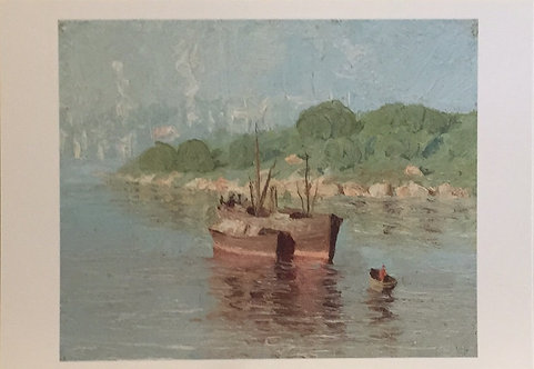 Lloyd Rees, Old Boats, Wollstonecraft