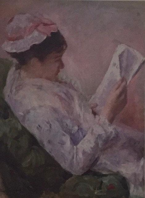 Mary Casatt, Woman Reading, 1878-79