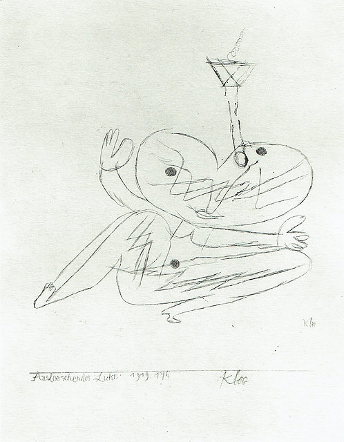 Paul Klee - Blowing Out a Candle