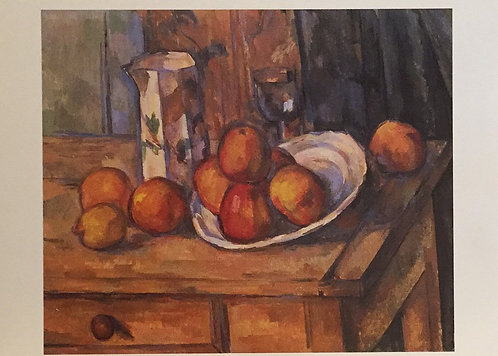 Paul Cezanne, Still Life with Milk, Jug and Fruit