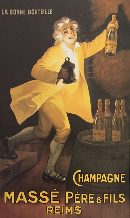 French Liqueur poster - Champagne 41cm x 51cm