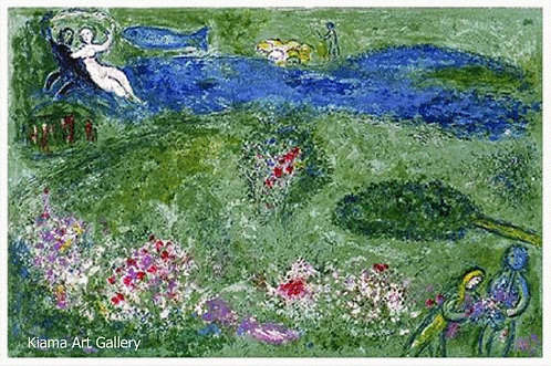 Chagall Daphnis and Chloe 1977 Print 320mm x 240mm The Orchard