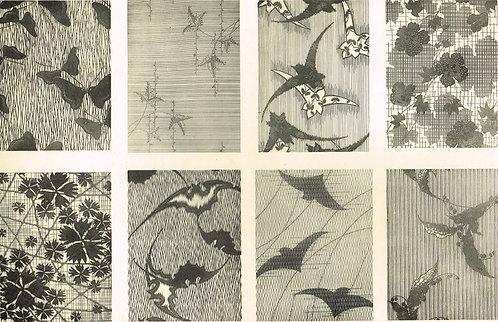 Japonais d'Art Decoratif Pochoir Plate 23