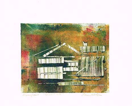 Dawn Wilson, Monoprint, Structure