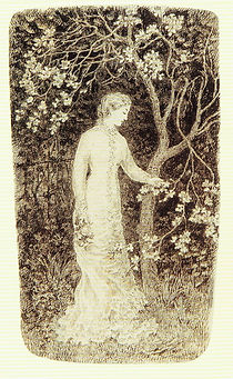 Emma Minnie Boyd, Young Woman and Blosso