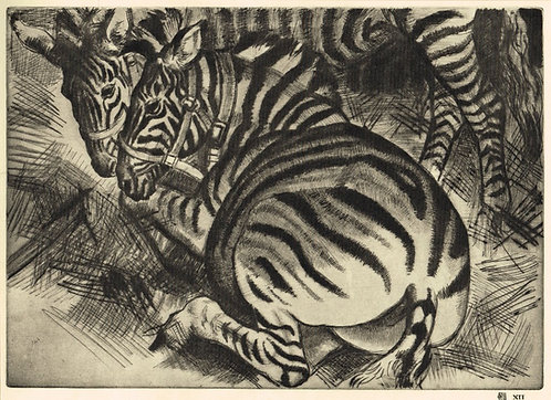Dame Laura Knight, Zebras