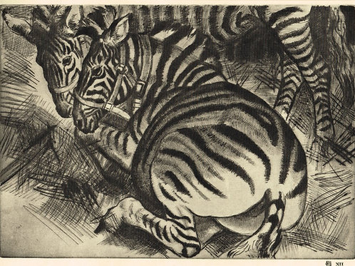 Dame Laura Knight Zebras