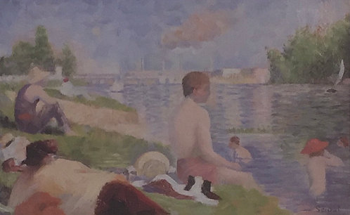 Georges Seurat, Final Study for Bathers as Asnieres