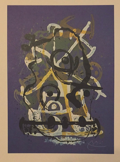 Joan Miro, Ride, Blue