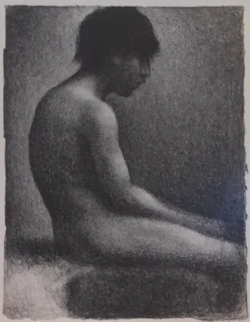 Georges Seurat, Seated Boy, Study for Bathers as Asnieres