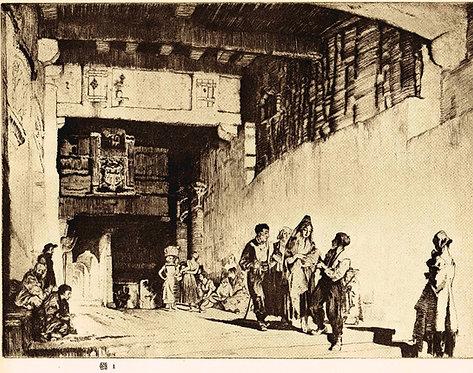 W Russell Flint, A Spanish Christening