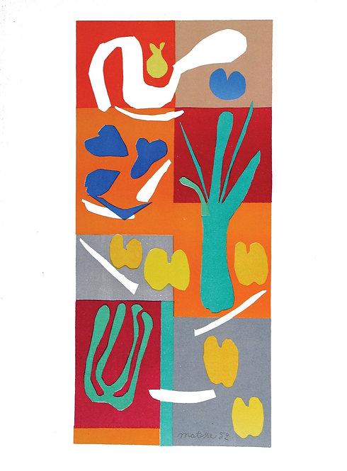 Matisse -  Lithograph - Vegetaux