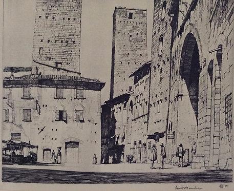 LC Rosenberg, Loggia Della Podesta, San Gimignano