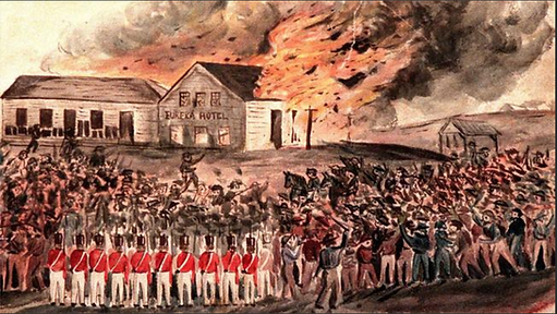 Charles Doudiet, Burning of the Eureka h