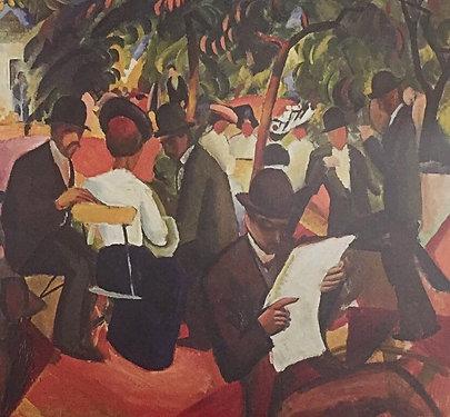 August Macke, Garden Restaurant (detail)