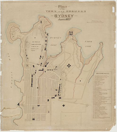 1807 Copy of Meehan's plan of Sydney