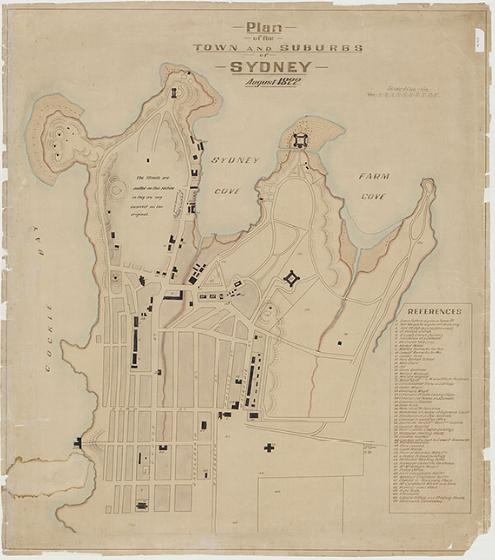 1807 Copy of Meehan's plan of Sydney