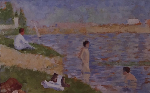 Georges Seurat, Bathers in the Water, Study for Bathers as Asnieres