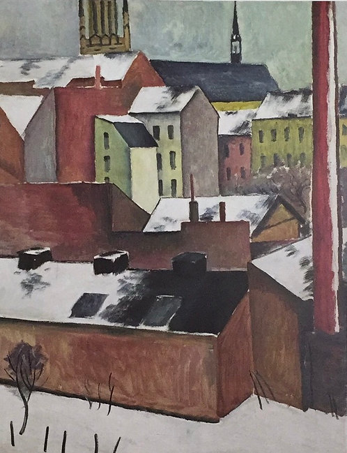 August Macke, The Church of St Mary in Bonn in Snow