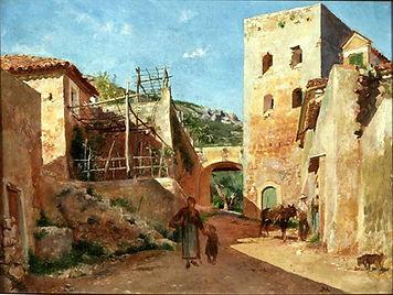 Jean-Louis Ernest Meissonier,  Street Scene near Antibes, 1868
