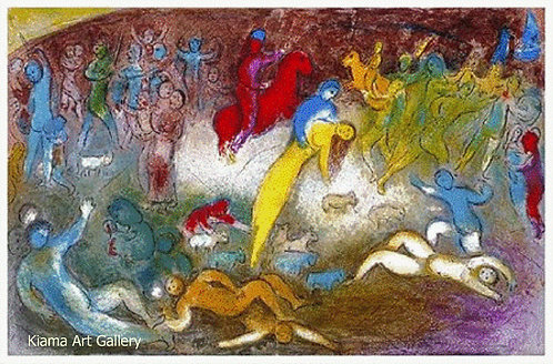 Chagall Daphnis and Chloe 1977 Print 320mm x 480mm The Capture of Chloe