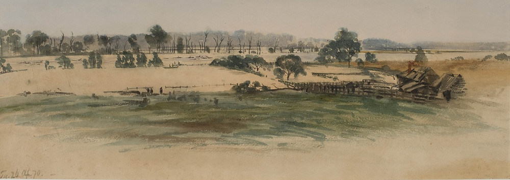 Samuel Elyard, Flood from Ferry Lane 26th April 1870
