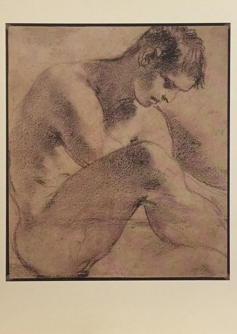 Guercino, Nude youth seated on the Ground