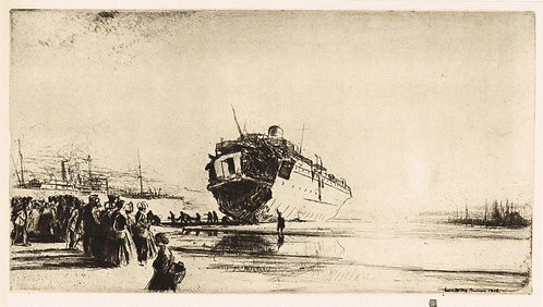 James McBey, The Torpedoed Sussex