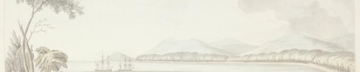 William Ellis, View of Adventure Bay, Van Diemen's Land, New Holland, 1777