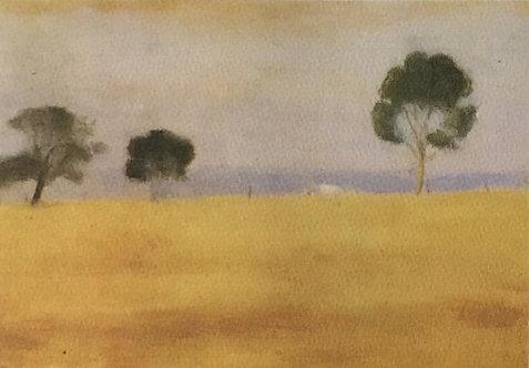 Clarice Beckett, Three Trees
