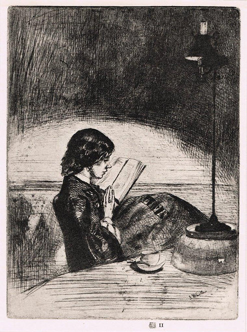 James McNeill Whistler, Reading by Lamplight