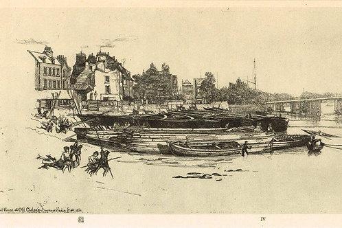 Sir Francis Seymour Haden, Whistler's House, Old Chelsea