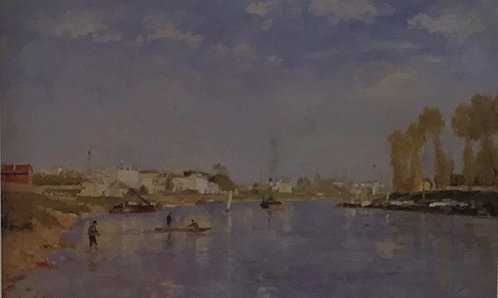 Georges Seurat, The Seine at La Garenne Saint-Denis