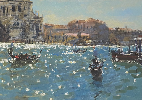 Ken Howard, Sparkling Light, The Grand Canal, Venice, 1996
