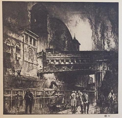 Frank Brangwyn, Cannon Street Station, Exterior