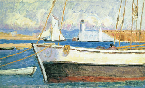 Pierre Bonnard, Port with Yachts, Study