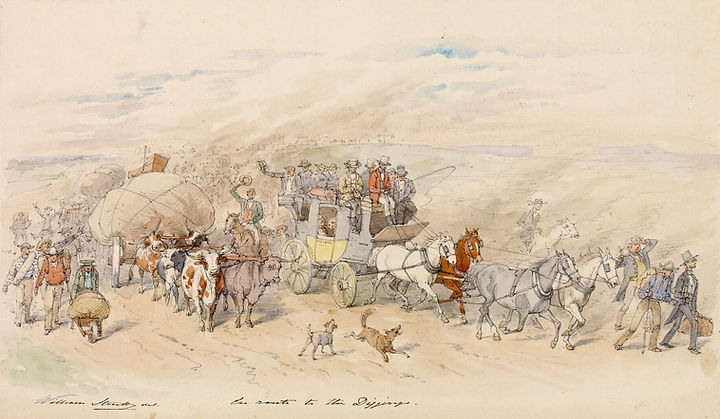 William Strutt, On Route to the Diggings