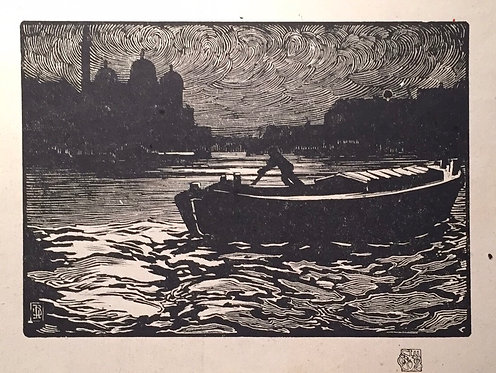 J. Barrie Robinson, Evening, Prince's Dock, Hull
