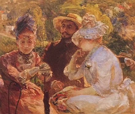 Marie Bracquemond, On the Terrace at Sevres, 1880