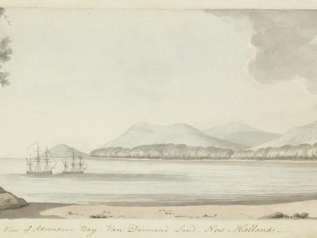 Artwork in Focus - William Ellis, View of Adventure Bay, Van Diemen's Land, New Holland, 1777