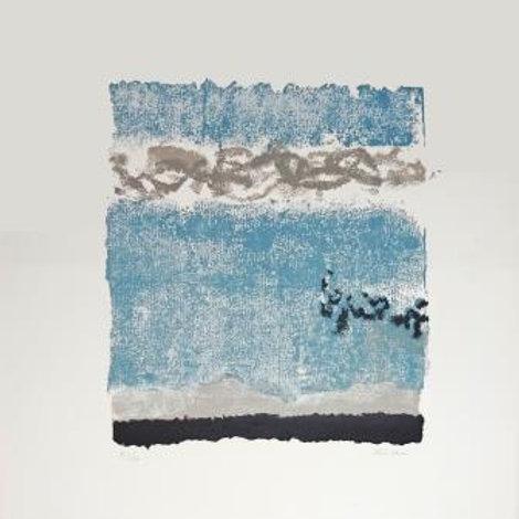 Leon Zack, Rectangle Blue,  Original Lithograph, 91/120