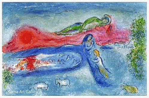 Chagall Daphnis and Chloe 1977 Print 320mm x 480mm Dorcon's Death
